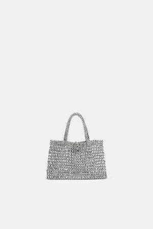 Zara Damen Shopper - Kleiner shopper in metalloptik
