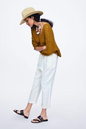 Zara Leinenhose mit kordelzug