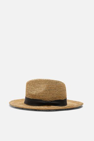 Zara Damen Hüte - Sonnenhut aus raffiabast
