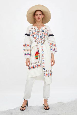 Zara Tunika mit farbiger stickerei