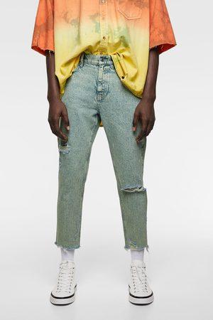 Zara Slim-fit-jeans im acid wash