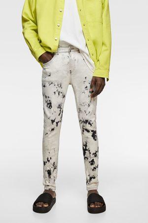 Zara Batik-jeans im skinny-fit