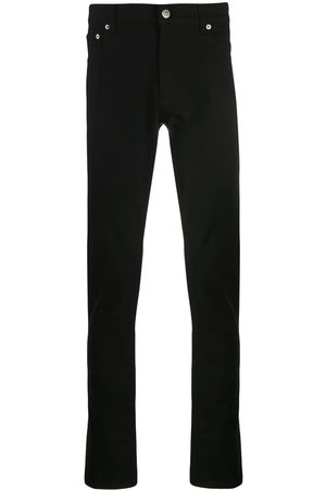 Alexander McQueen Herren Slim - Logo embroidered slim jeans