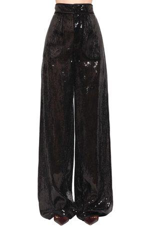 Dsquared2 Damen Weite Hosen - Weite Hose Mit Pailletten
