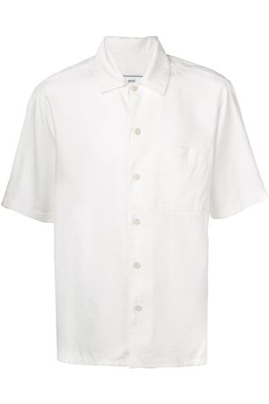 Ami Alexandre Mattiussi Camp Collar Short Sleeve Shirt With Chest Pocket