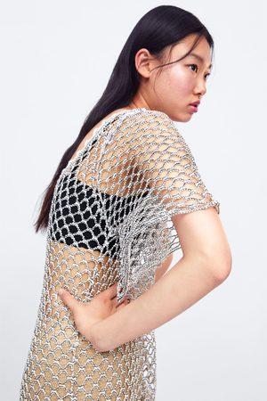 Zara Tunika mit strukturmuster in glitzeroptik