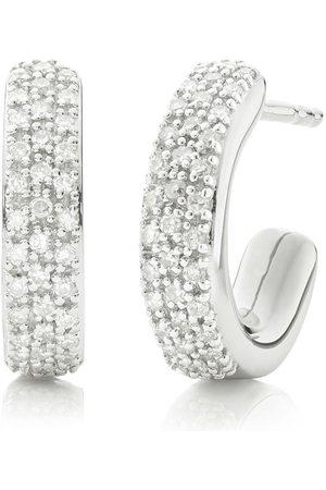 Monica Vinader Fiji Mini Hoop Diamond earrings