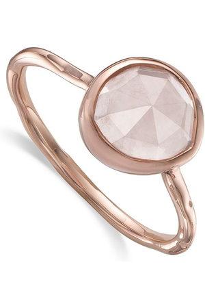 Monica Vinader Siren Stacking Rose Quartz ring