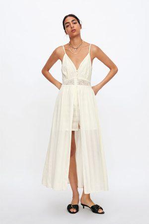Zara Overall-kleid mit spitze