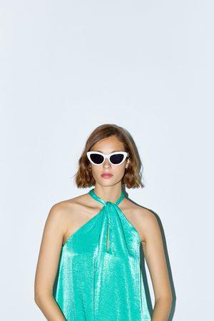 Zara Satiniertes neckholder-kleid
