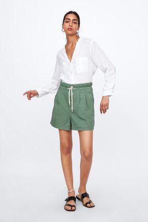 Zara Baggy-shorts mit bundfalten