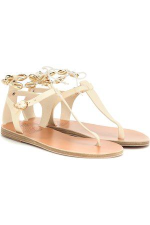 Ancient Greek Sandals Sandalen Asimina Gold Shells