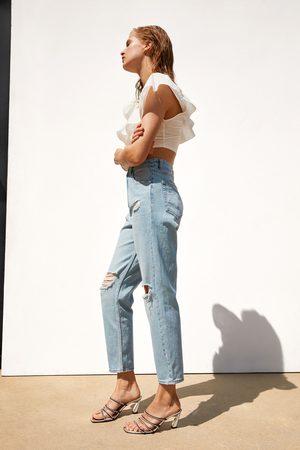 Zara Mom-fit-jeans mit rissen