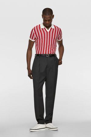 Zara Poloshirt aus jersey mit längsstreifen