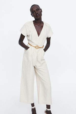 Zara Damen Jumpsuits - Doppelreihiger overall