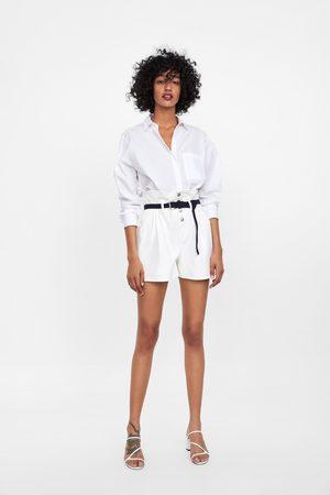 Zara Paperbag-shorts mit gürtel