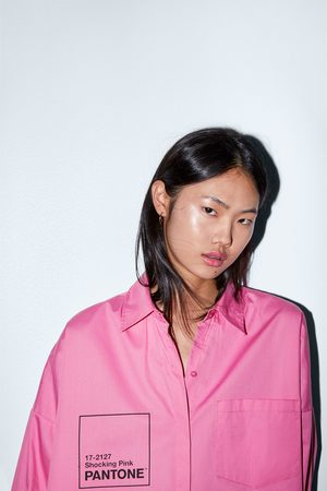 Zara Oversize-hemd aus popelin