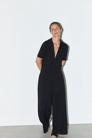 Zara Weiter overall mit doppelreihiger knopfleiste
