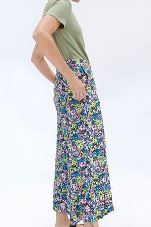 Zara Damen Shorts - Gemusterte bermudashorts mit zierfalten