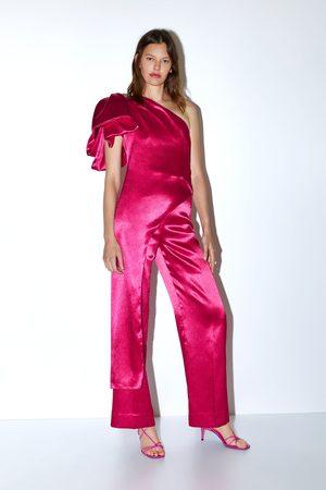 Zara Damen Weite Hosen - Weite satinierte hose limited edition