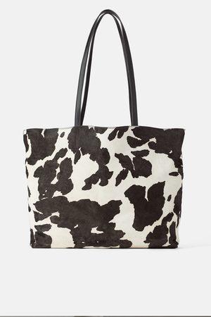 Zara Shopper aus leder mit animalprint
