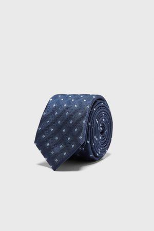 Zara Breite jacquard-krawatte mit rauten