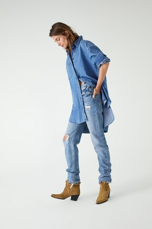 Zara Langes jeanshemd