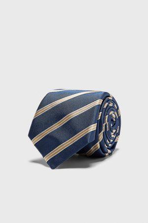Zara Breite jacquard-krawatte mit streifen