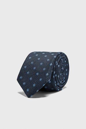 Zara Herren Krawatten - Schmale jacquard-krawatte mit blumenmuster