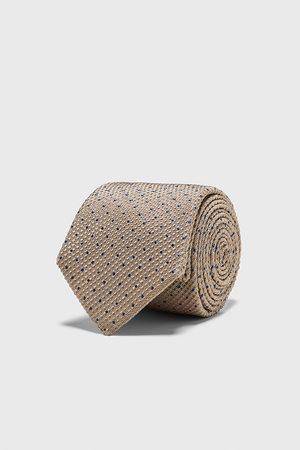 Zara Breite jacquard-krawatte mit tupfenmuster