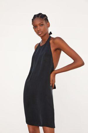 Zara Damen Kleider - Fliessendes neckholder-kleid