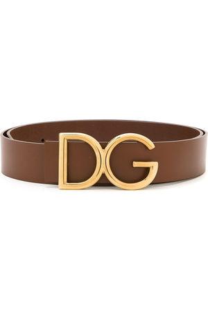 Dolce & Gabbana DG logo plaque belt