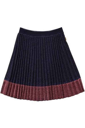 Marc Jacobs Pleated Lurex Skirt W/ Contrasting Hem