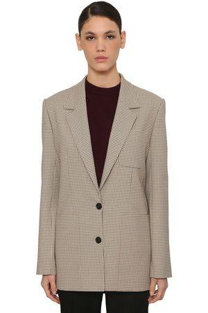 Nina Ricci Check Single Breast Jacket