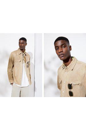 Zara Herren Denim - Jeans-überhemd mit rissen