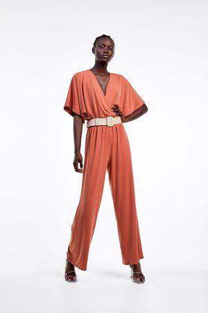 Zara Doppelreihiger overall mit gürtel