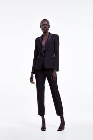 Zara Damen Blazer & Sakkos - Smoking-blazer mit abgesetztem revers