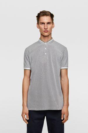 Zara Herren Poloshirts - Pikee-poloshirt mit stehkragen