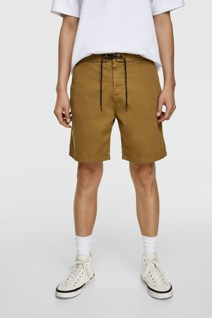 Zara Herren Shorts - Bermudashorts aus festem stoff mit tunnelzug