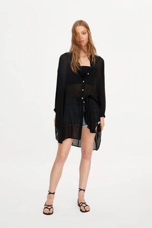 Zara Damen Blusen - Oversize-hemd