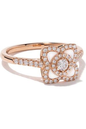 De Beers Damen Ringe - 18kt Enchanted Lotus mother-of-pearl and diamond ring