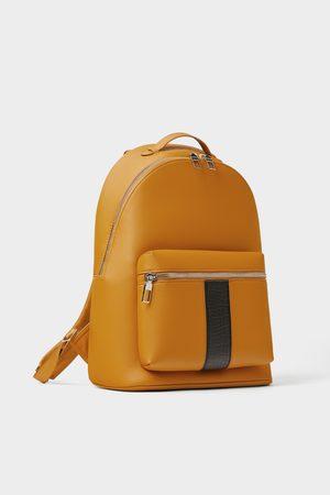 Zara Gelber rucksack mit schmuckband