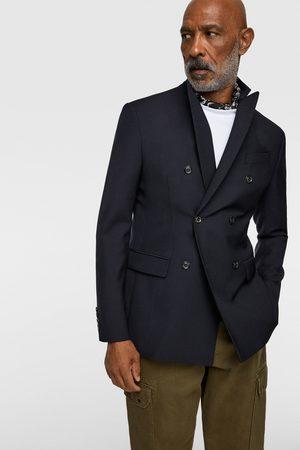 Zara Doppelreihiges jackett aus schurwolle