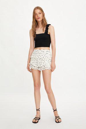 Zara Damen Shorts - Plissierte shorts