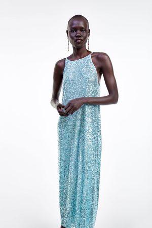 Zara Neckholder-kleid mit pailletten