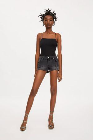 Zara Low-rise-jeansshorts