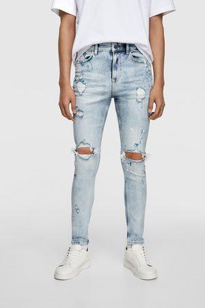 Zara Skinny-jeans mit farbspritzern