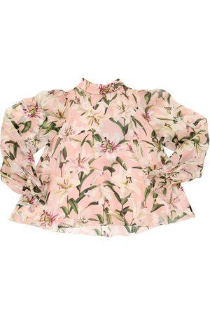 """Dolce & Gabbana Damen Blusen - Bluse Aus Seidenorganza """"lilium"""""""