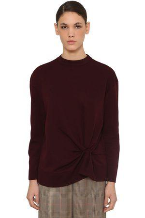 Nina Ricci Damen Sweatshirts - Crewneck Wool Knit Sweater