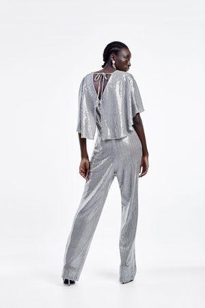 Zara Overall mit flügelärmeln und strass